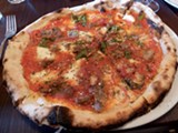PIE HIGH Pizza at Campo Fina is thin but nicely chewy. - STETT HOLBROOK