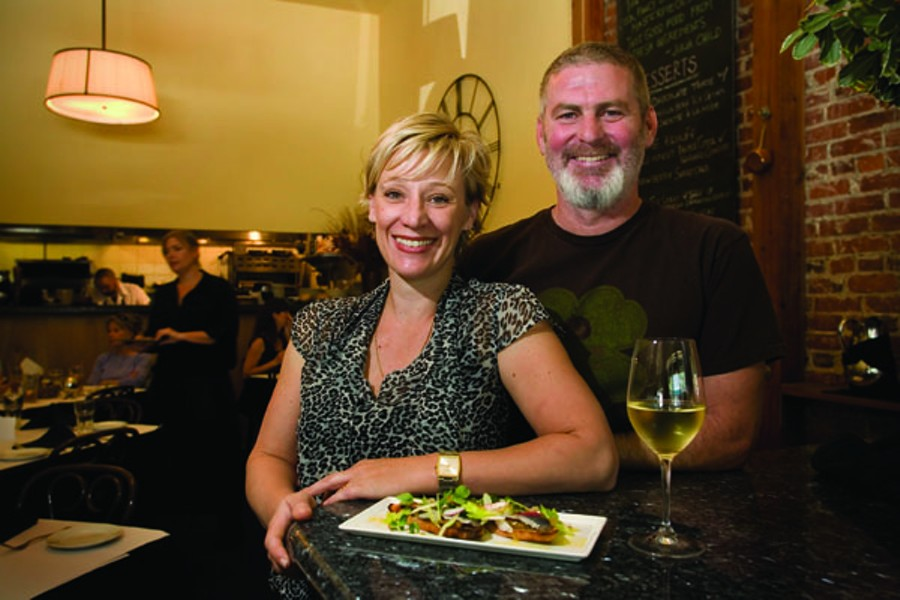 POUR DEUX Karen and Lucas Martin's Sebastopol restaurant, often packed, excels at French-accented classic dishes. - MICHAEL AMSLER