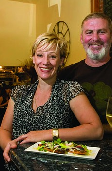 POUR DEUX Karen and Lucas Martin's Sebastopol restaurant, often packed, excels at French-accented classic dishes.