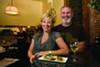 <b>POUR DEUX</b> Karen and Lucas Martin's Sebastopol restaurant, often packed, excels at French-accented classic dishes.