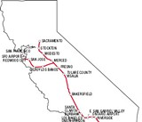 Proprosed Rout For California High-Speed Rail