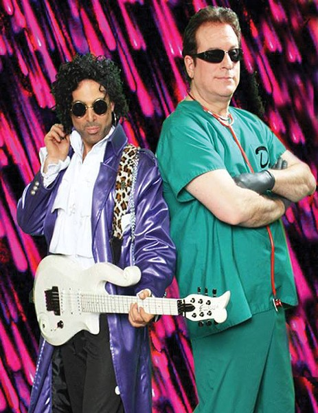 PURPLE REIGN Marshall Charloff and Dr. Fink keep the Revolution alive.