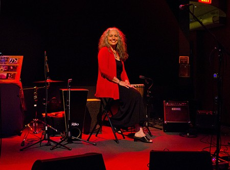 RED-HEARTED BLUES Owner Laura van Galen onstage at the Fenix in San Rafael.
