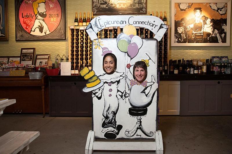 SAY CHEESE Nicole Stanowski and Sheana Davis ham it up in Davis' Sonoma cheese shop. - MICHAEL AMSLER