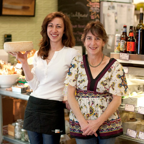 SAY CHEESE! Sheana Davis, right, and daughter Karina at their downtown Sonoma shop. - JAMES FANUCCHI