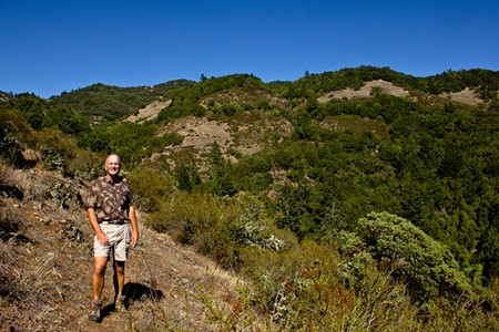 SERENITY NOW Volunteer docent Bill Myers leads hikes through the peaceful trails of Sugarloaf. - NADAV SOROKER