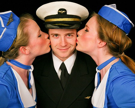 SKY HIGH LIAR Zack Howard stars in Spreckels' 'Catch Me If You Can.'