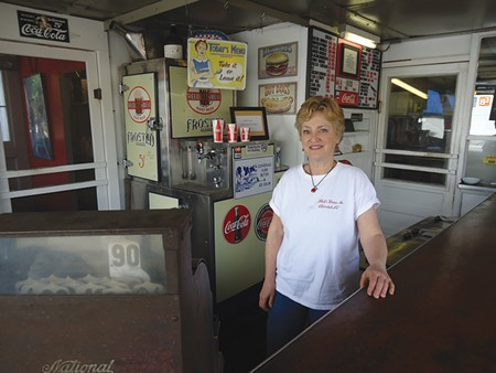 SMALL TOWN, U.S.A. Pick's, now owned by Claudia Clow, above, has scarcely changed since it opened in 1923. - JESSICA DUR TAYLOR