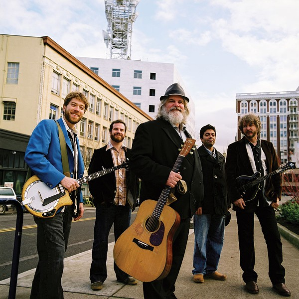 SOMETHING FISHY Jam-grass pioneers Leftover Salmon turn 25 this year.