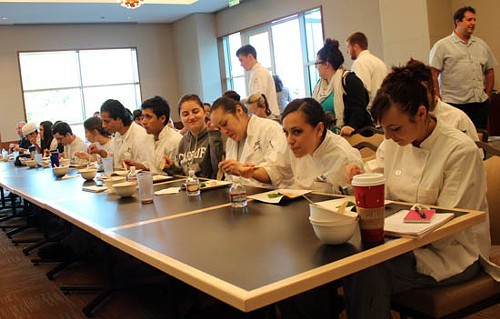 SRJC culinary students taste the lecture