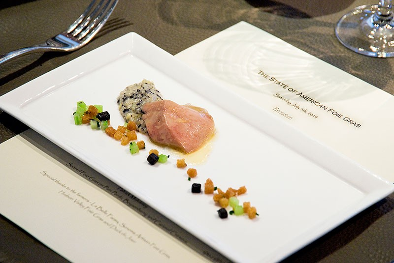 STATE OF THE PLATE La Toque's 'protest' lunch included six courses of foie gras prepared by six chefs.