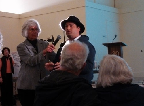 Steve Burdo shares his concerns with Silvestri's arguments at Citizen Marin's forum on March 20, 2013. - KELLY O'MARA