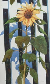 """BY RON SUMNER - """"Sunflower,"""" watercolor"""