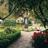 <b>TAKE A STROLL</b> MacArthur Place's grounds are filled with gardens and art.