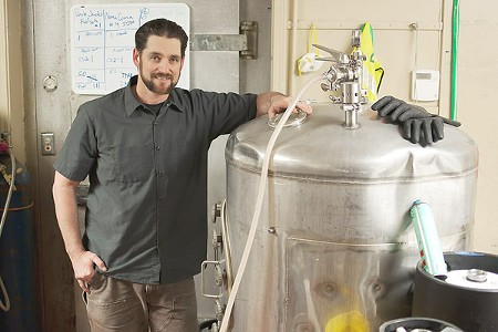 TANKED YEAST Kevin Robinson runs Divine Brewing at Sonoma Springs Brewing Co., bringing wine knowledge to brewing. - ANNELIESE SCHMIDT
