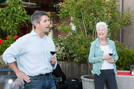 THE GOOD LIFE Winemaker Corey Beck and Eleanor Coppola share a laugh.