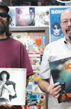 THE LEGENDS Doug Jayne and Hoyt Wilhelm, owners of the Last Record Store in Santa Rosa.
