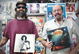 THE LEGENDS Doug Jayne and Hoyt Wilhelm, owners of the Last Record Store in Santa Rosa. - LIZ SEWARD