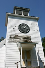 The Preston Church stands tall, ready for remodeling.