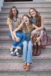 <b>THREE-PART HARMONY</b> The Tietjen sisters (L–R: Rachel, Erika and Chloe) began singing together as kids.