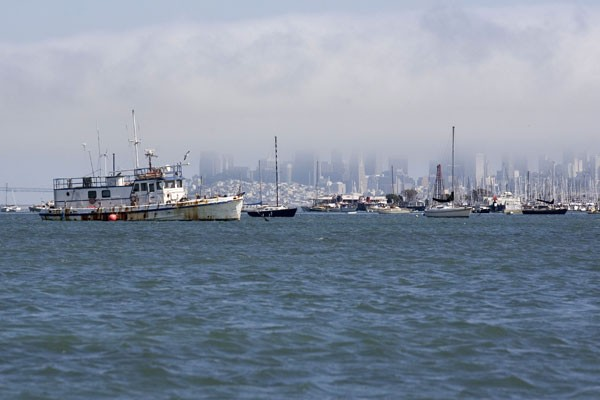 TO THE RACES Increased police focus on the anchor-outs is causing anxiety among boat dwellers over the America's Cup finals, held in the Bay next year. - MICHAEL AMSLER