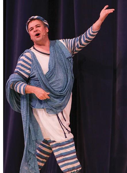 TRAGEDY TOMORROW Tim Setzer leads the 'Forum' cast as Pseudolus.