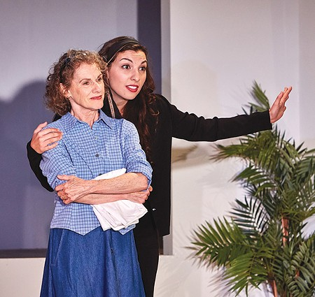 HELPING HAND In 'The Clean House', Virginia (Tamar Cohn) lends a hand to Matilde (Livia Demarchi). - GREG LE BLANC