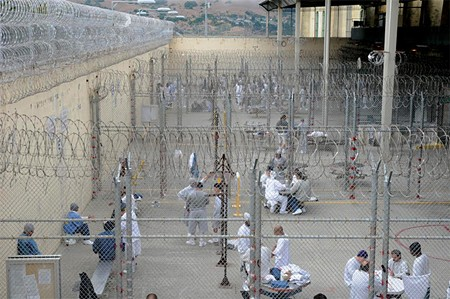 CONDEMNED TO WAIT Death row inmates in the exercise yard at San Quentin Prison. They may never see the death chamber.