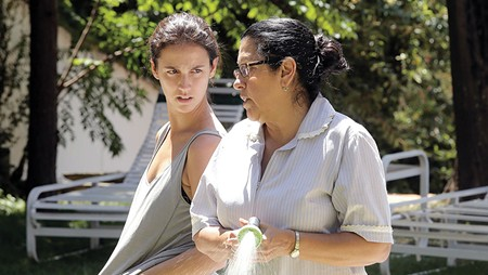 THE HELP The arrival of Jessica (Camila Márdila), left, roils the waters of a tranquil, upper-class Brazilian home.