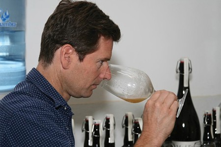 A NOSE FOR BEER Nile Zacherle has blended his love for wine and beer at Mad Fritz. - TOM NIXON