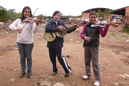 TRASH TO TUNES 'Landfillharmonic' tells the story of the Recycled Orchestra of Cateura—Paraguayan kids who play instruments made from dump castoffs. The band gives a live performance in Yountville on Nov. 11.