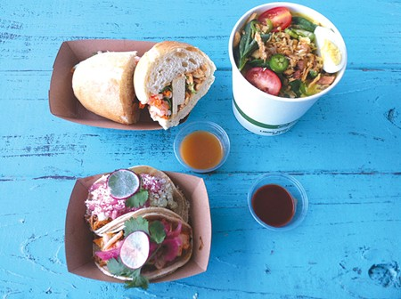 MULTICULTURAL EXPERIENCE The Secret Kitchen borrows from several cuisines and puts it all on one menu. - FLORA TSAPOVSKY
