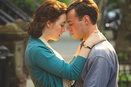 IRISH EYES Saoirse Ronan, left, plays an Irish immigrant in New York who makes waves on both sides of the Atlantic.