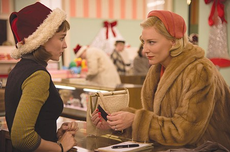 SEASON'S GREETINGS Cate Blanchett sets her sights on Rooney Mara in 'Carol.'