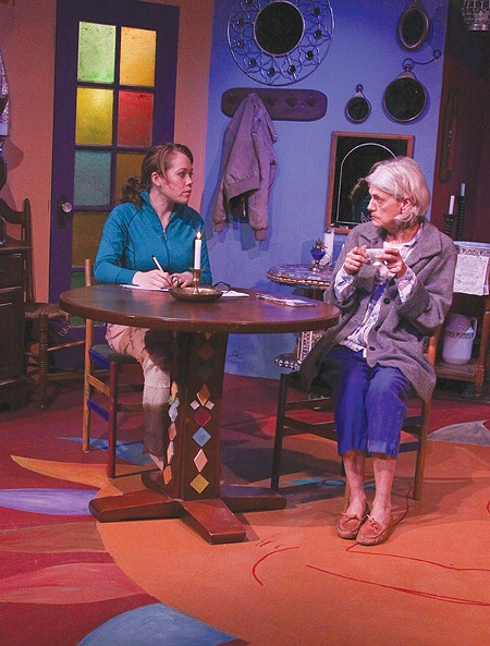 HEARTFELT Helen (Laura Jorgensen), left, and Elsa (Ilana Niernberger) talk it out in 'The Road to Mecca.' - ERIC CHAZANKIN