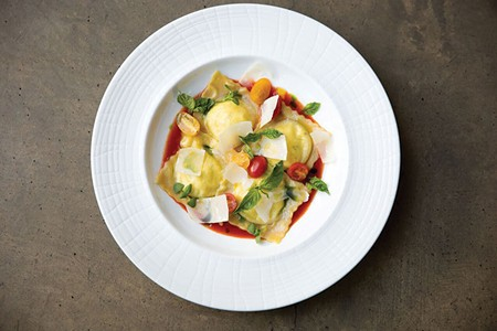 RAVE WORTHY Dry Creek Kitchen's ravioli goes well beyond the token vegetarian pasta.