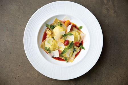RAVE WORTHY Dry Creek Kitchen's ravioli goes well beyond the token vegetarian pasta.