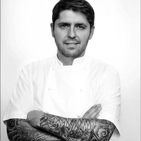 SOMETHING TO CELEBRATE  He doesn't look happy here, but when Sunset's Celebration Weekend rolls around May 14–15 you can bet star chef Ludo Lefebvre will be all smiles as he performs cooking demos on the event's outdoor cooking stage.