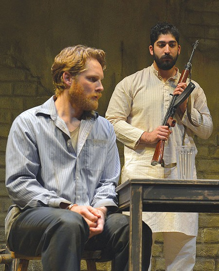 PAY UP Craig Marker (left) plays a small-fry hostage held captive by terrorists in this flawed production. - KEVIN BERNE