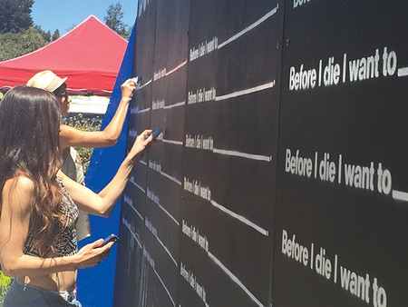 FILL IN THE BLANK   More than a thousand of these art walls have been installed around the world. Now Sebastopol has one.
