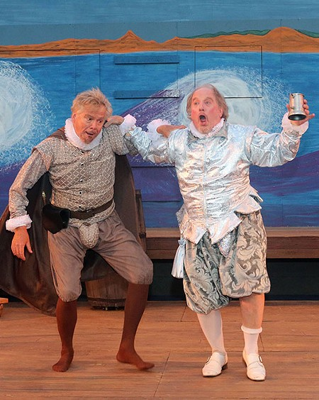 KNIGHT AFTER KNIGHT Daren Kelly and Michael J. Hume get the funny parts in 'Twelfth Night.' - LORI A. CHEUNG