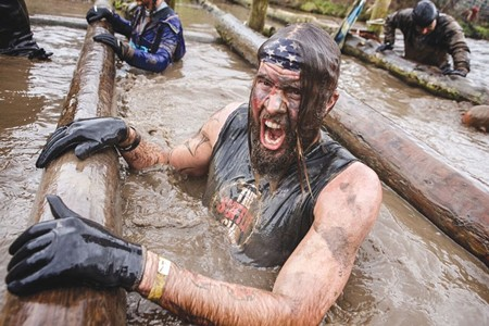 MAN SHOW Nothing asserts testosterone like immersion in icy mud.