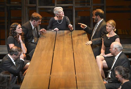 BREAKING BREAD The Westin's gather for an unholy communion in 'August Osage County'. - KEVIN BERNE