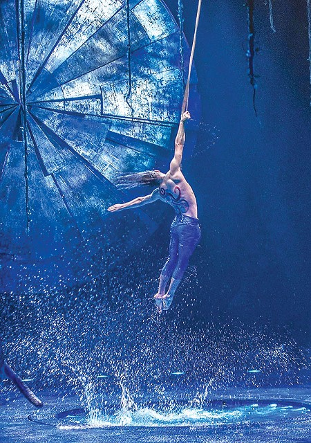 SWINGING IN THE RAIN The use of water in 'Luzia' is amazing.
