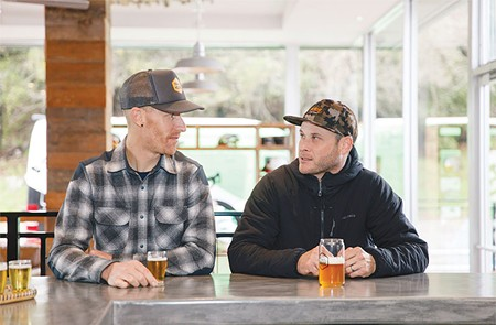 BLAZING A TRAIL  With the opening of Trail House in Santa Rosa, Shane Bresnyan, left, and partner Glenn Fant have created a club house for Sonoma County's mountain-biking community.