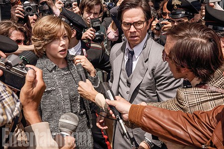 ALL EARS  Michelle Williams teams up  with Mark Wahlberg to rescue - a young J. Paul Getty III in new Ridley Scott film.