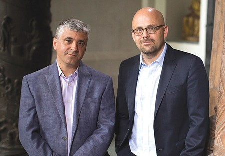 THINGS FALL APART  Occidental native Daniel Ziblatt, right, and Steven Levitsky compare the authoritarian drift - of the United States under Trump with failed democracies around the world in their new book.