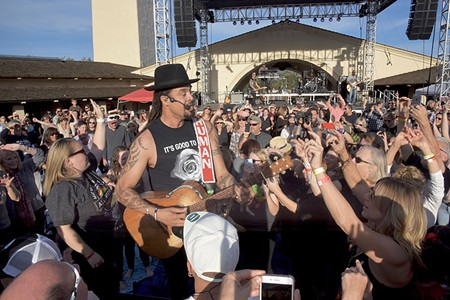 FOR THE LOVE Michael Franti played at BottleRock's three fire-relief shows last year.