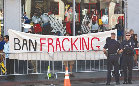 FRACK OFF, RIVAS  An oil-industry law firm appears to be targeting Hollister's Robert Rivas - for his anti-fracking position.