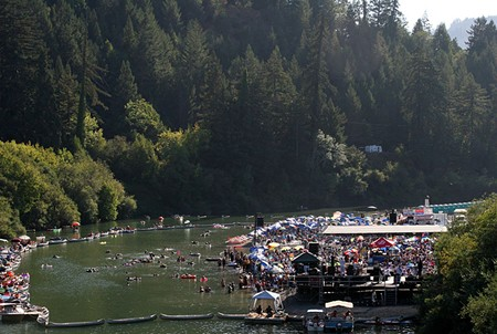 LAZY DAYS  A perfect day in Guerneville begins on the river.